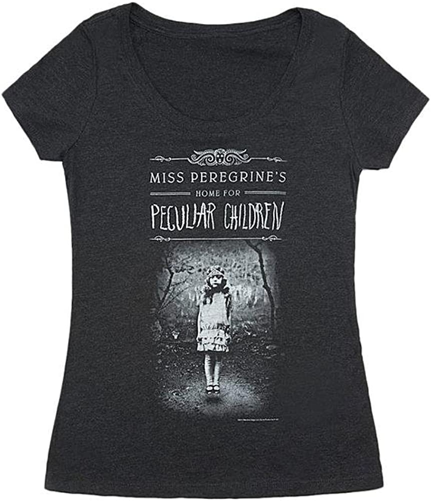 Out of Print Women's Science Fiction and Fantasy Book-Themed Scoop Neck T-Shirt