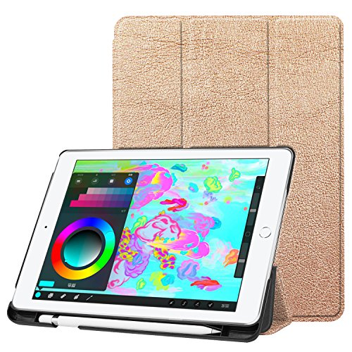 Ipad 9 7 2018 2017 Case  Uzer Ultra Slim Lightweight Pu Leather Smart Case Protective Folio Folding Trifold Stand With Soft Tpu Back Cover For Apple Ipad 5Th   6Th Generation 9 7 Inch