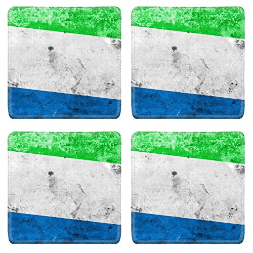 Sierra Accent End Table (Luxlady Natural Rubber Square Coasters IMAGE ID 31067643 Sierra Leone Flag with a vintage and old)