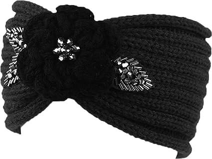 Amazon Jupitson Sequin Knit Headband With Flower Decoration