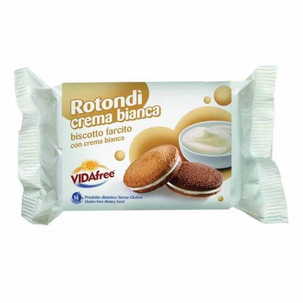 Vidafree redondo blanco crema de la galleta relleno 140g Gluten libre: Amazon.es: Salud y cuidado personal