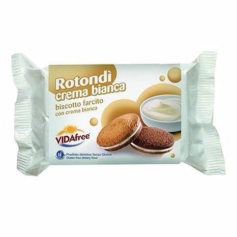 Vidafree redondo blanco crema de la galleta relleno 140g Gluten libre