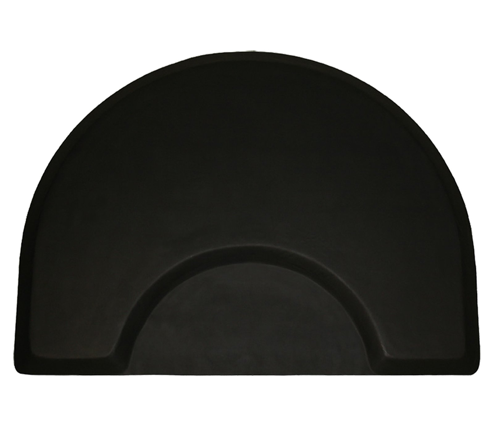 LCL Beauty 1/2'' Thick Professional Half-Round Waterproof Anti-Fatigue Barber Salon Floor Mat