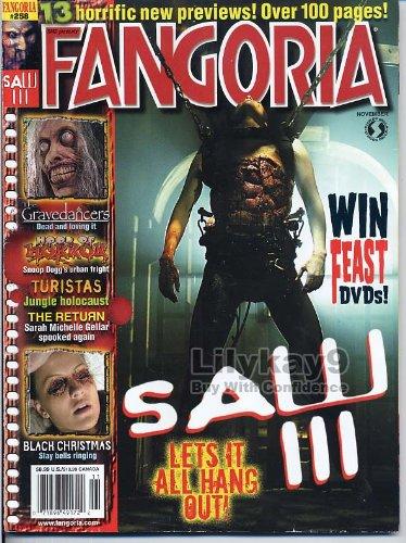 Fangoria Magazine 258 SAW III 3 Gravedancers TIFFANY SHEPIS Black Christmas TURISTAS November 2006 C ()