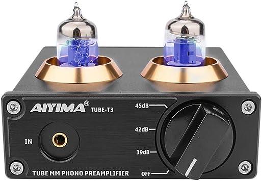 AIYIMA DC12V HiFi 6J2 Tubo MM Phono Preamplificador Reproductor de ...