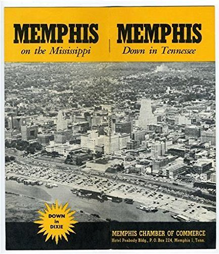 Memphis Tennessee Brochure Pictorial 1940S Chamber Of Commerce