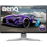 BenQ EX3203R 32 Inch QHD 2K HDR 144 Hz Curved Gaming Monitor for Sim Racing, 1800R, FreeSync 2, B.I. Plus Sensor, HDMI…
