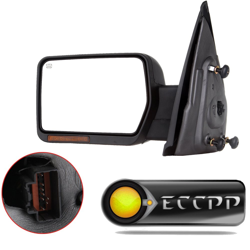 ECCPP Power Heated Turn Signal Puddle Lamps Driver Side Mirror Replacement fit 2007-2014 Ford F-150 Pickup Left