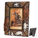 K EXCLUSIVE Praying Cowboy Antiqued Western-Style Picture Frame - Fits 4'' x 6'' Pictures