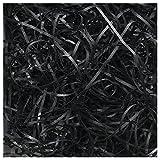 SODIAL(R) Luxury Shredded Paper Hamper Fill Basket Filler Shred Gift Filling Tissue 100g Black