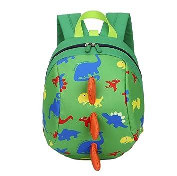 Bolso, Manadlian Niños niñas Mochila de animales Patrón de dinosaurio Bolsa para la escuela (20cm(L)/26cm(H)/12cm(W), Verde): Amazon.es: Hogar