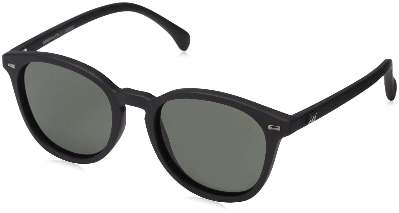 2044217d3fd3 Amazon.com: Le Specs Women's Bandwagon Sunglasses, Black Rubber/Khaki Mono,  One Size: Clothing