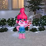 Gemmy Trolls Poppy with Candy Cane LED Light Up 3.5' Airblown Inflatable