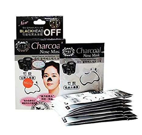 charcoal Nose Mask Deep Cleansing Blackhead Remover Pore Refining Pouches -  Set of 10