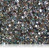 "100% Custom Made (5mm) 1000 Bulk Pieces of Mini Size ""Glue-On"" Flatback Embellishments for Decorating, Made of Acrylic Resin w/Shiny Iridescent Crafting Rhinestone Crystal Diamond Gem Style {Clear}"