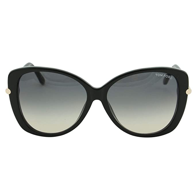 01d9f3e966 Amazon.com  Tom Ford Sunglasses TF 9324 Sunglasses 01B Black with gold  59mm  Clothing