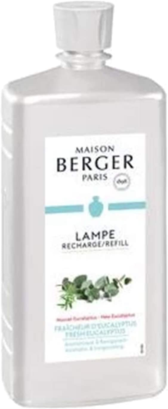 Maison Berger (Lampe Berger) Fragrance - Fresh Eucalyptus (A Aromatic & Invigorating Fragrance) - 33.8 Ounce/Nonreturnable Item/Can Not Be Shipped Into California