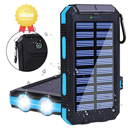 Amazon.com: Cargador Solar Power Bank 20000mAh, Outdoor ...