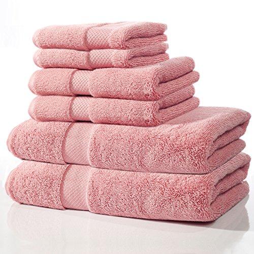 cambay linens beautiful luxury u0026 spa soft ultra light towel bundle zero twist super absorbent 100 cotton 650 gsm 6piece set 2 bath towels