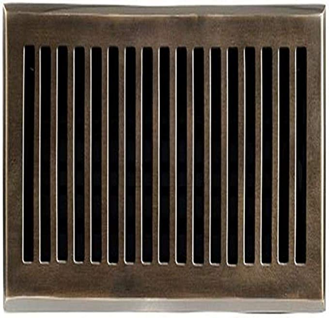 Brass Elegans 116d Ab Solid Cast Brass Contemporary 4 Inch By 10 Inch Floor Register Antique Brass Finish Model Heating Vents