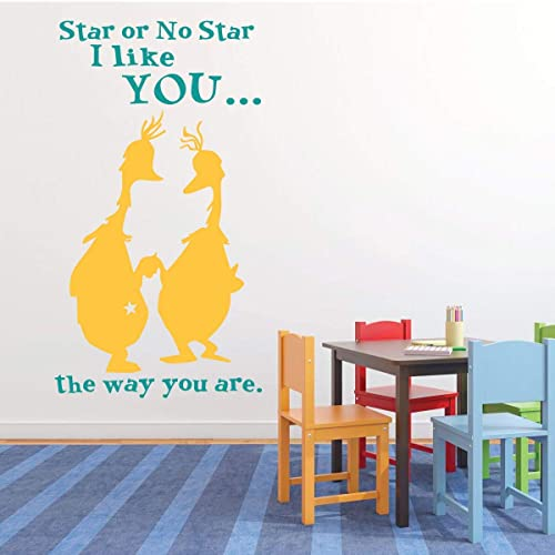 Amazon com: Dr  Seuss Wall Decals - Star or No Star - I like You The