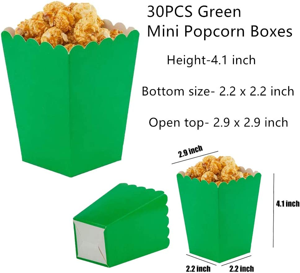 Party Decoration Supplies Boxes Pack of 15 Tim/&Lin Black Small Popcorn Boxes Mini Open-Top Cardboard Popcorn Boxes