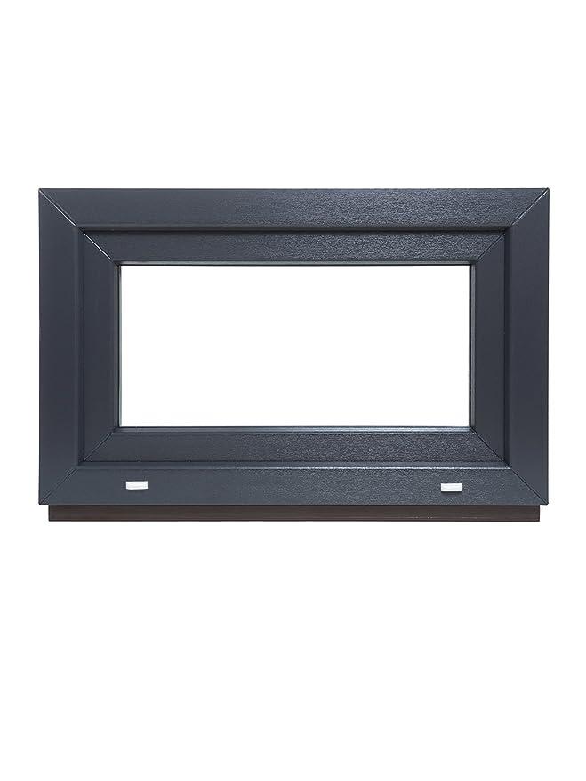 2-fach-Verglasung 60mm Profil verschiedene Ma/ße BxH: 80x80 cm wei/ß DIN rechts schneller Versand Kunststoff Fenster Kellerfenster
