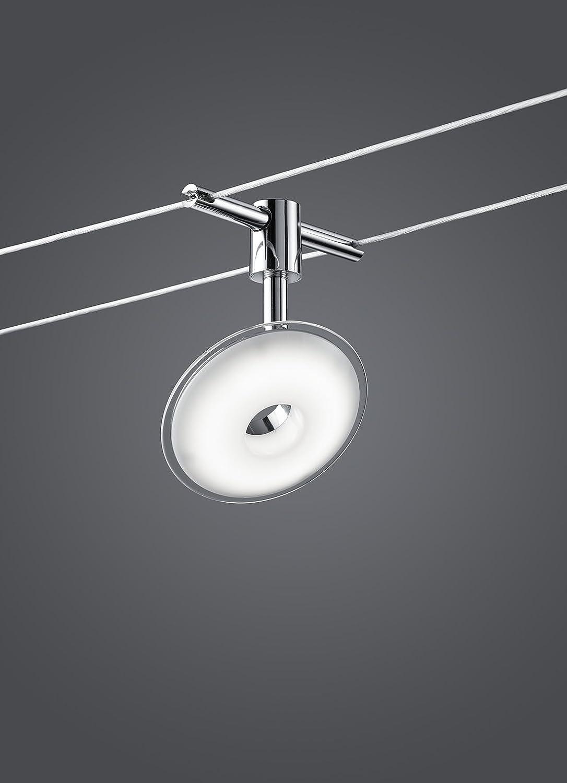 Trio Leuchten LED Seilsystem Pilatus EEK A Spot Kunststoff Chromfarbig 775910506 Amazonde Beleuchtung