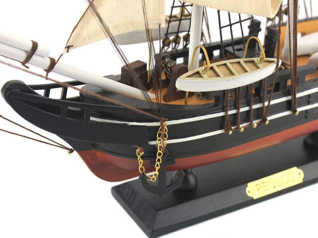 Hampton Nautical Wooden Moby Dick - Pequod Model Whaling Boat, 24''
