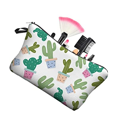 Cartoon Cactus Makeup Cosmetic Storage Bag Stationery Organizer Pouch Case