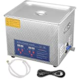 AW 10 L Liter Stainless Steel Ultrasonic Cleaner 490W Digital Timer Heater Jewelry Glasses Tattoo Dental