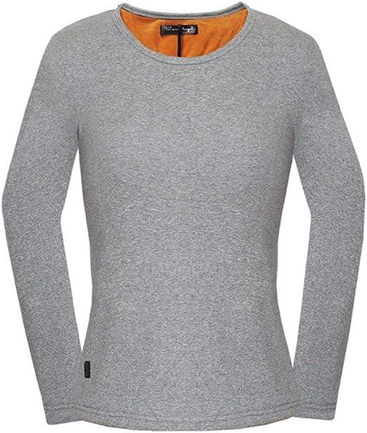 USB Calefacción eléctrica ropa interior térmica de la Mujer, Capa base camisas manga larga blusa temperatura ajustable, Chaleco térmico Tops esquí al aire libre, senderismo, caza, la motocicleta: Amazon.es: Jardín