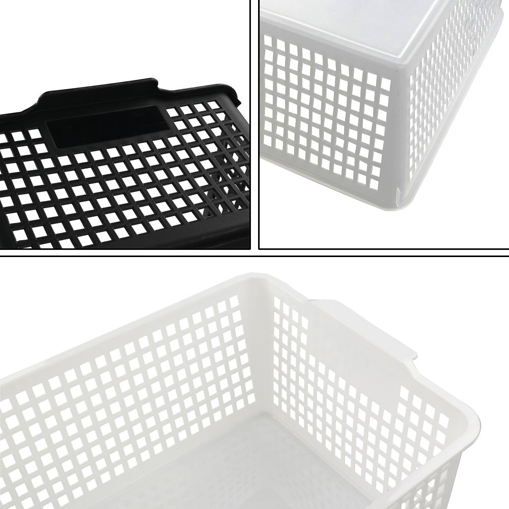 Kekow Large Ultra Basket Storage Organizers Bin, Perforated Design, 3-Pack, F by Kekow (Image #3)