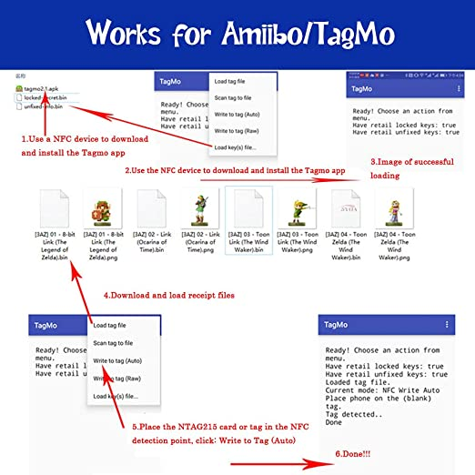 Yiqingltd 55x Nfc Ntag215 Karte Für Amiibo Tagmo Tags Elektronik