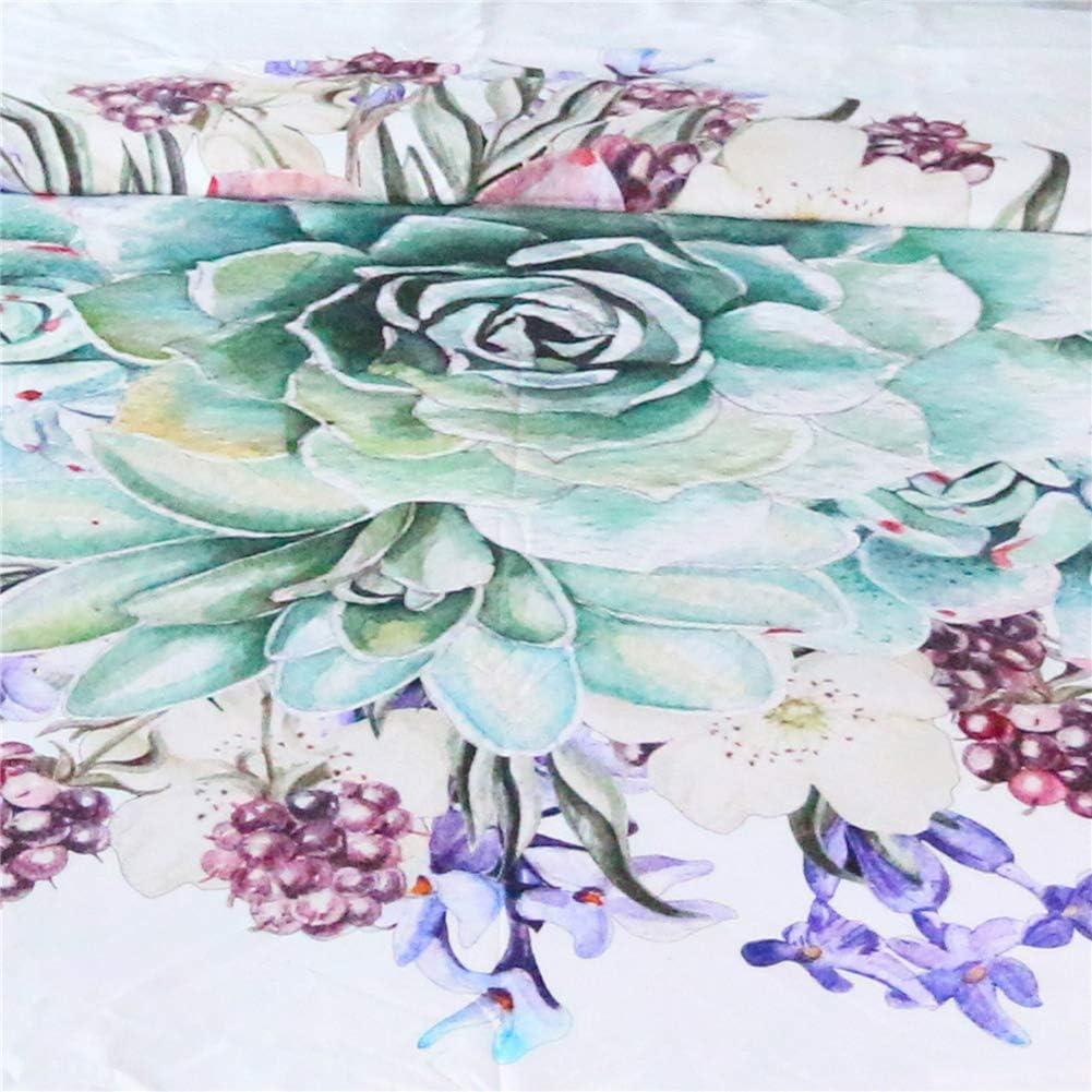 Bling Floreale Copripiumino, Selvaggio Fiore Tropicale Grandi Foglie esotica Tropic Petali Immagine, Decorativo 3 Pezzi Bedding Set con 2 Pillow Shams,Twin Queen