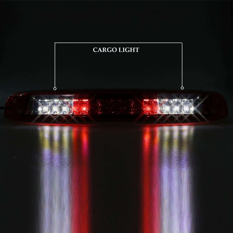 Sanzitop LED 3rd Brake Light Rear Cargo Lamp for 99-06 Chevrolet Silverado//GMC Sierra 1500-3500 HD Chrome Housing Red Lens 2007 Chevrolet Silverado//GMC Sierra 1500-3500 HD Classic 5978318