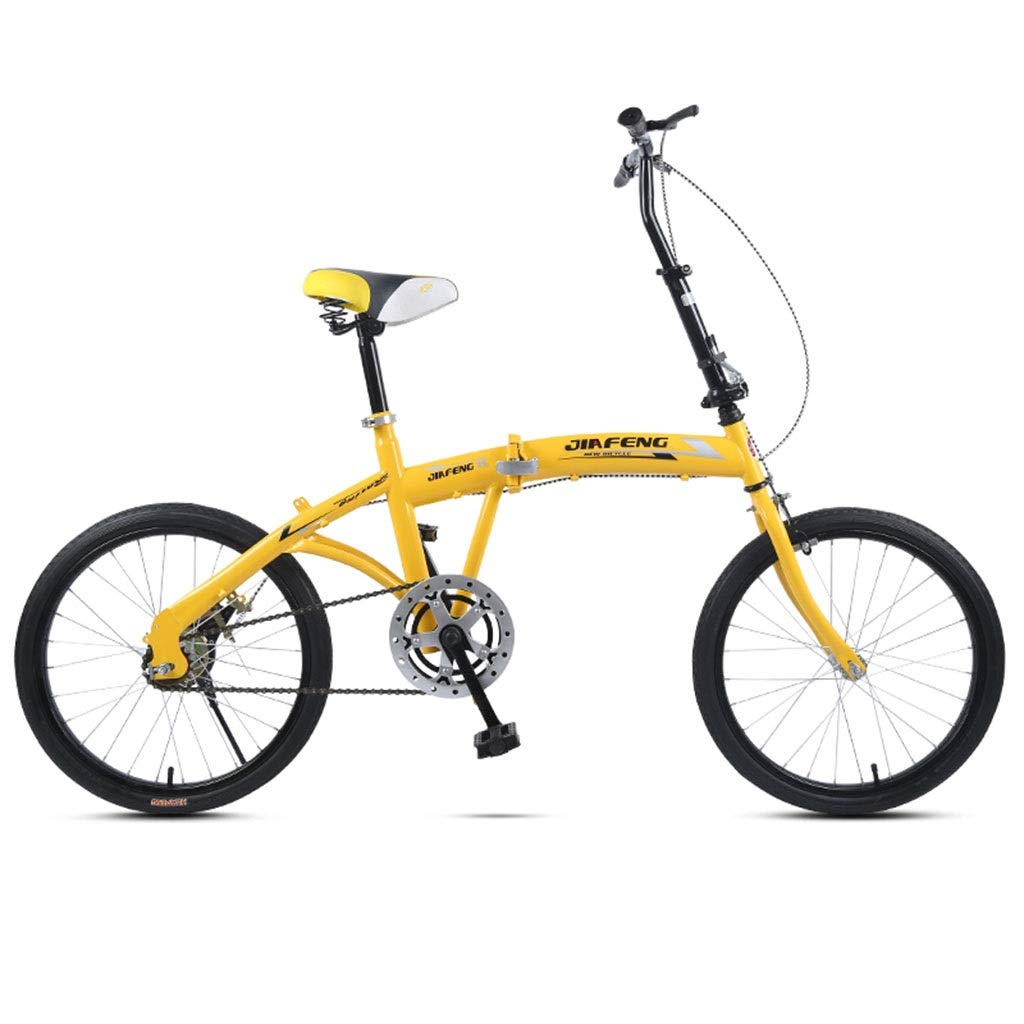 2019春の新作 折りたたみ自転車 大人の折りたたみ自転車超軽量ポータブル自転車男性と女性の学生自転車速い折りたたみ通勤20インチ自転車 (Color : Yellow, Yellow, B07PR434BG Size : 155*30 :*94cm) 155*30*94cm Yellow B07PR434BG, 羽毛布団専門店 ふとんdeハッピー:3555a49e --- senas.4x4.lt