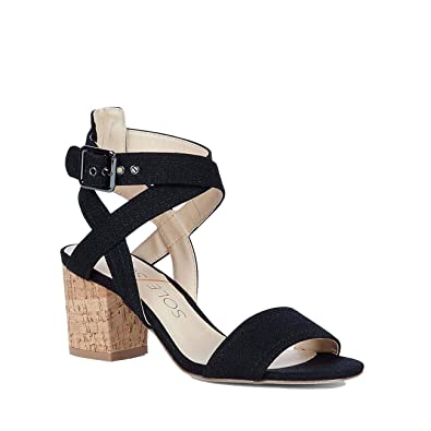 397fef9da07 Sole Society Women s Zahara Ankle Strap Block Heel Sandals-Black-11