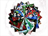80 5'' Beautiful Christmas Charm Pack # 1- 20 DIFFERENT PRINTS-4 OF EACH #1