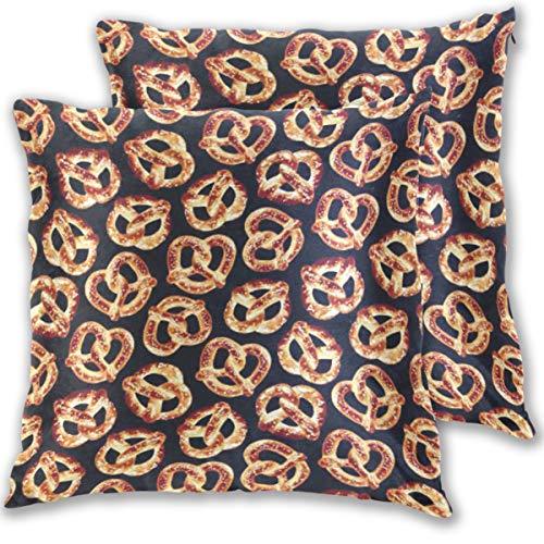 Gaz X Pretzel Velvet Soft Decorative Square Throw Pillow Covers Set Cushion Case for Sofa Bedroom Car 18 x 18 inch Set of -
