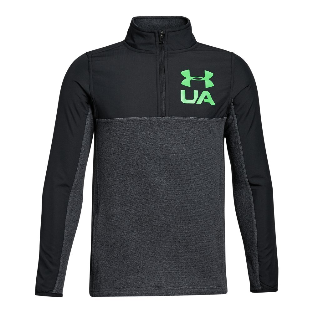 Under Armour ボーイズ Phenom 1/4ジップ。 B01NAGJNQ6 X-Large / 18-20 Big Kids|Black/ Black/ Lime Twist Black/ Black/ Lime Twist X-Large / 18-20 Big Kids