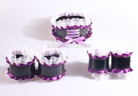 Moderación Kit con mano puños, tobillo puños, cuello, puños de encaje para decoración