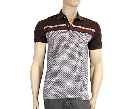 4f4f6a355f7a Amazon.com: Gucci Mens Diamante Polo Shirt Top with GRG 251623 2479 ...
