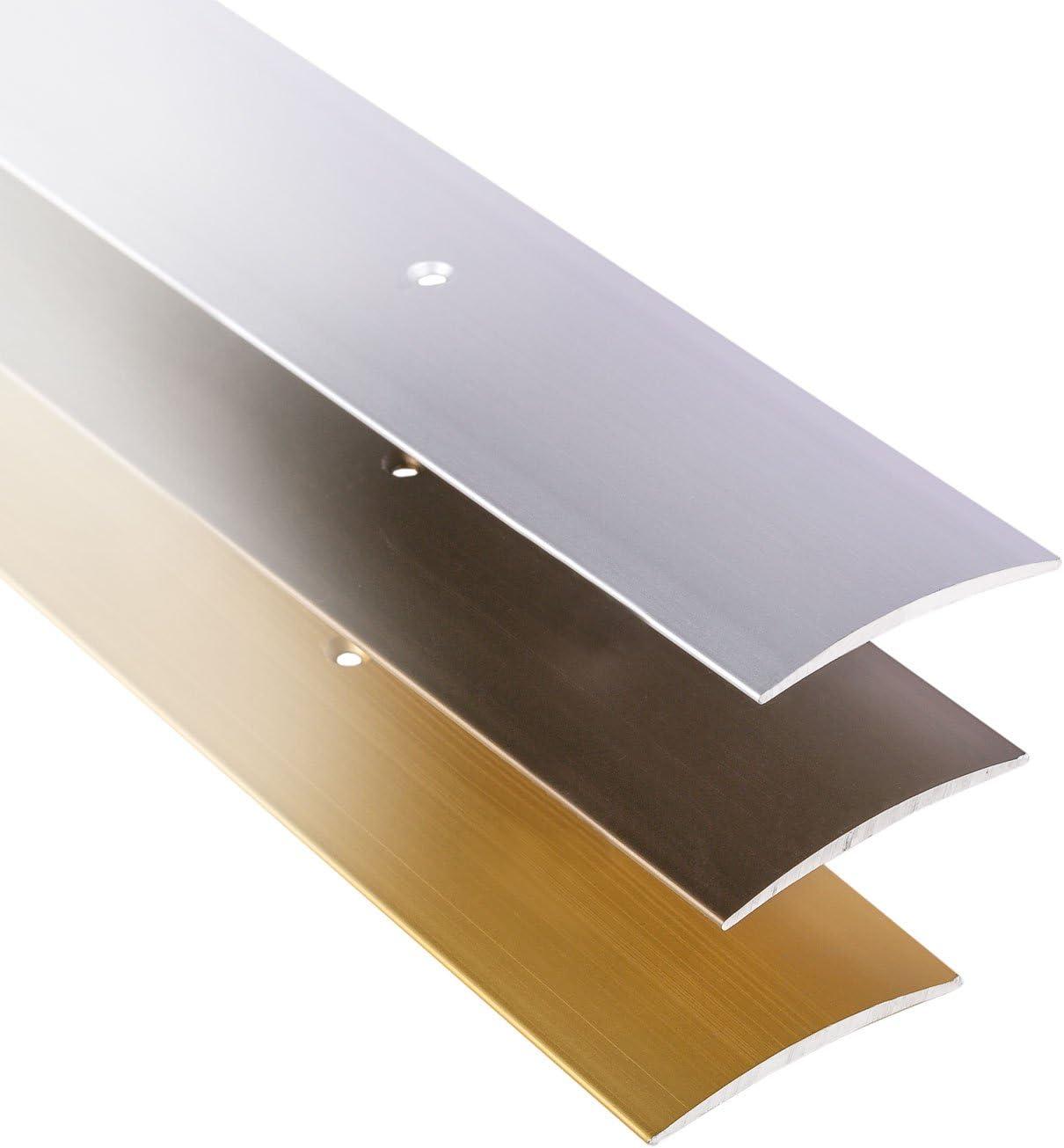 Boden-Schiene Alu 1 St/ück Vinyl L/änge 100 cm Teppich UVM Aluminium Bronze eloxiert | Boden-Profil flach Gedotec /Übergangsprofil selbstklebend /Übergangs-Schiene Laminat Breite 37 mm
