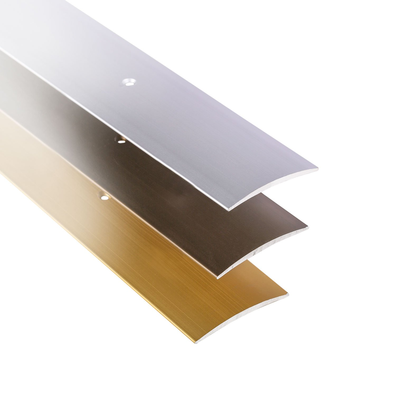 Perfil de grueso GedoTec a trav/és de agujeros aluminio anodizado a trav/és de velocidades de riel de perfil del suelo De ancho de 30-40 50 mm 3 coloures 100 cm o de 200 cm Alu messing eloxiert Made in Germany 30 x 1000 mm
