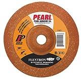 Pearl 4-1/2'' x 1/8'' x 7/8'' Flextron SRT Grinding Wheel 80 Grit TYPE 27 - Metal (Pack of 25)