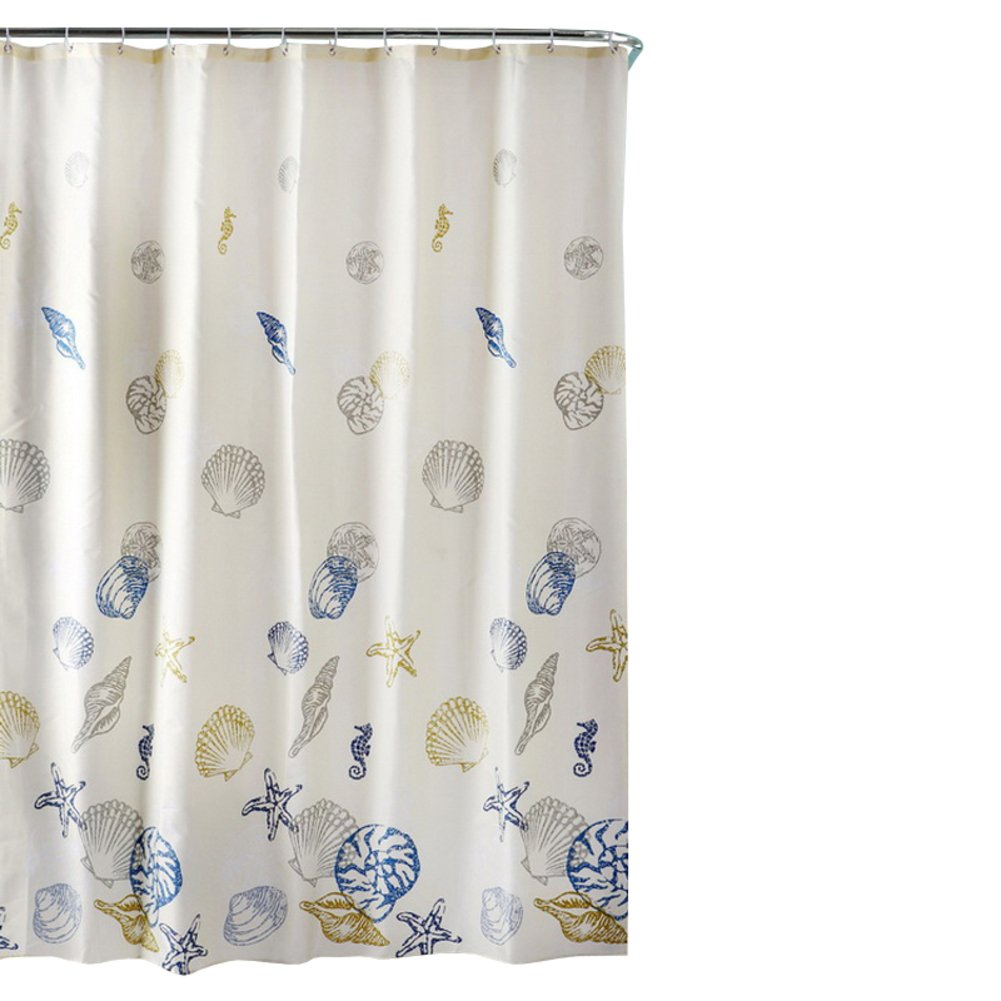 Amazon Floral Bathroom CurtainsPolyester Shower Curtains Padded Waterproof Partition Curtain C 120x180cm47x71inch Home
