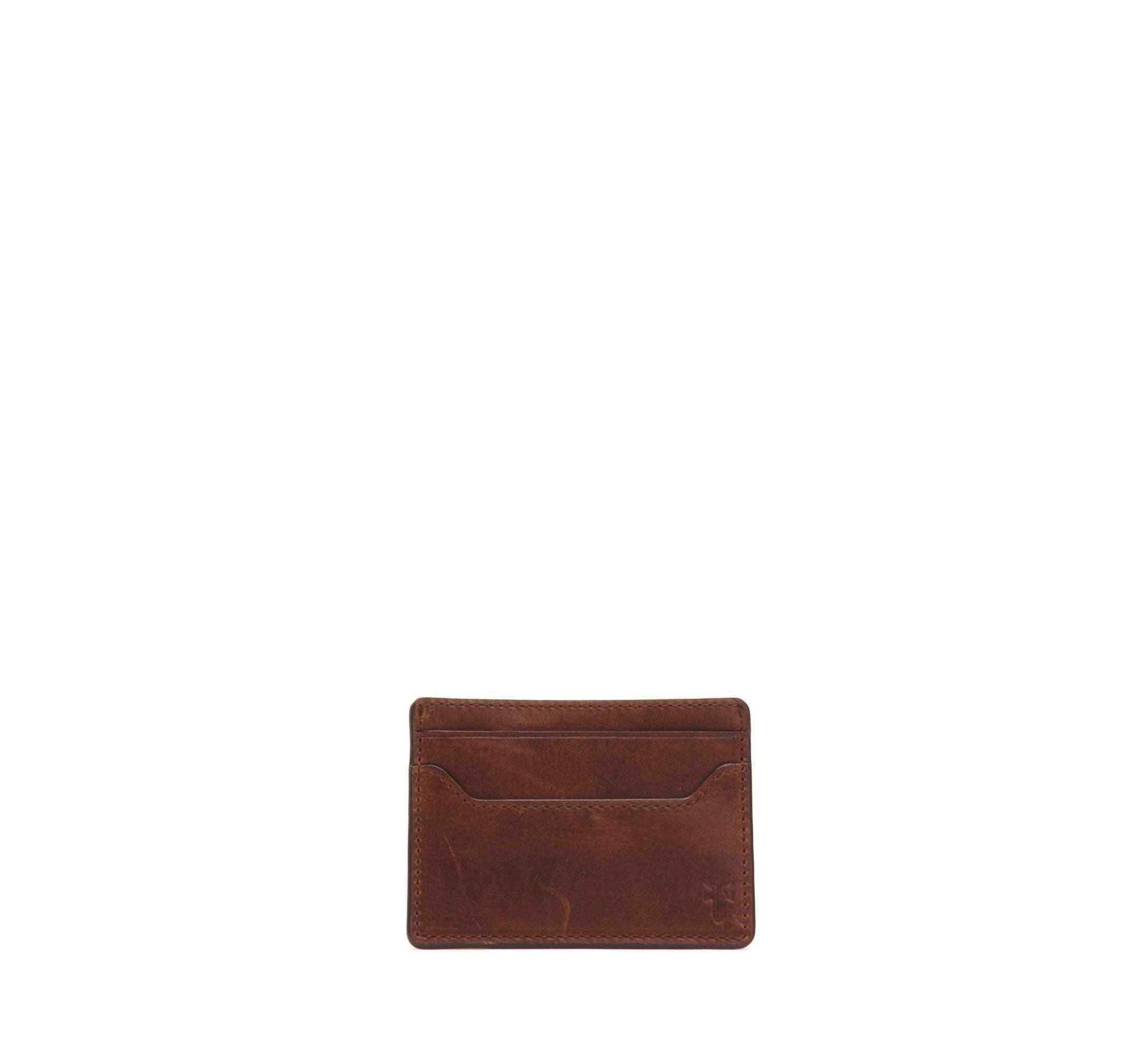 FRYE Men's Logan Money Clip Card Case, Cognac, One Size