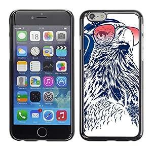 CaseCaptain Carcasa Funda Case - Apple Iphone 6 / Funny DJ Owl /