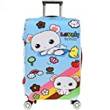 Fvstar Washable Print Luggage Cover Spandex Suitcase Cove Protective Zipper Carry On Covers